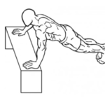 「インクラインプッシュアップ」のやり方!大胸筋下部の鍛え方について紹介!